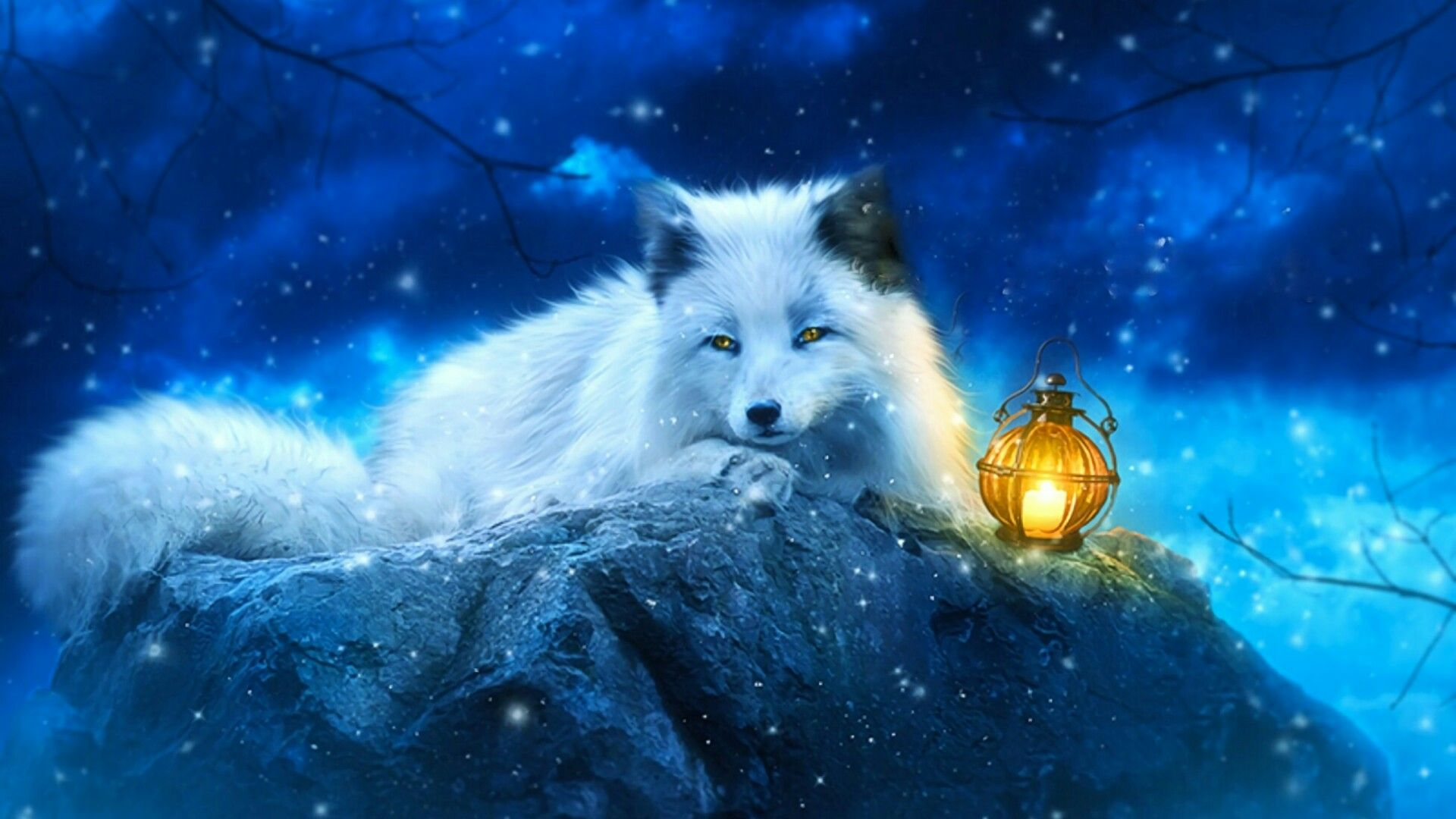 White Fox Art Wallpaper | Wallpaper Studio 10 | Tens of thousands ...