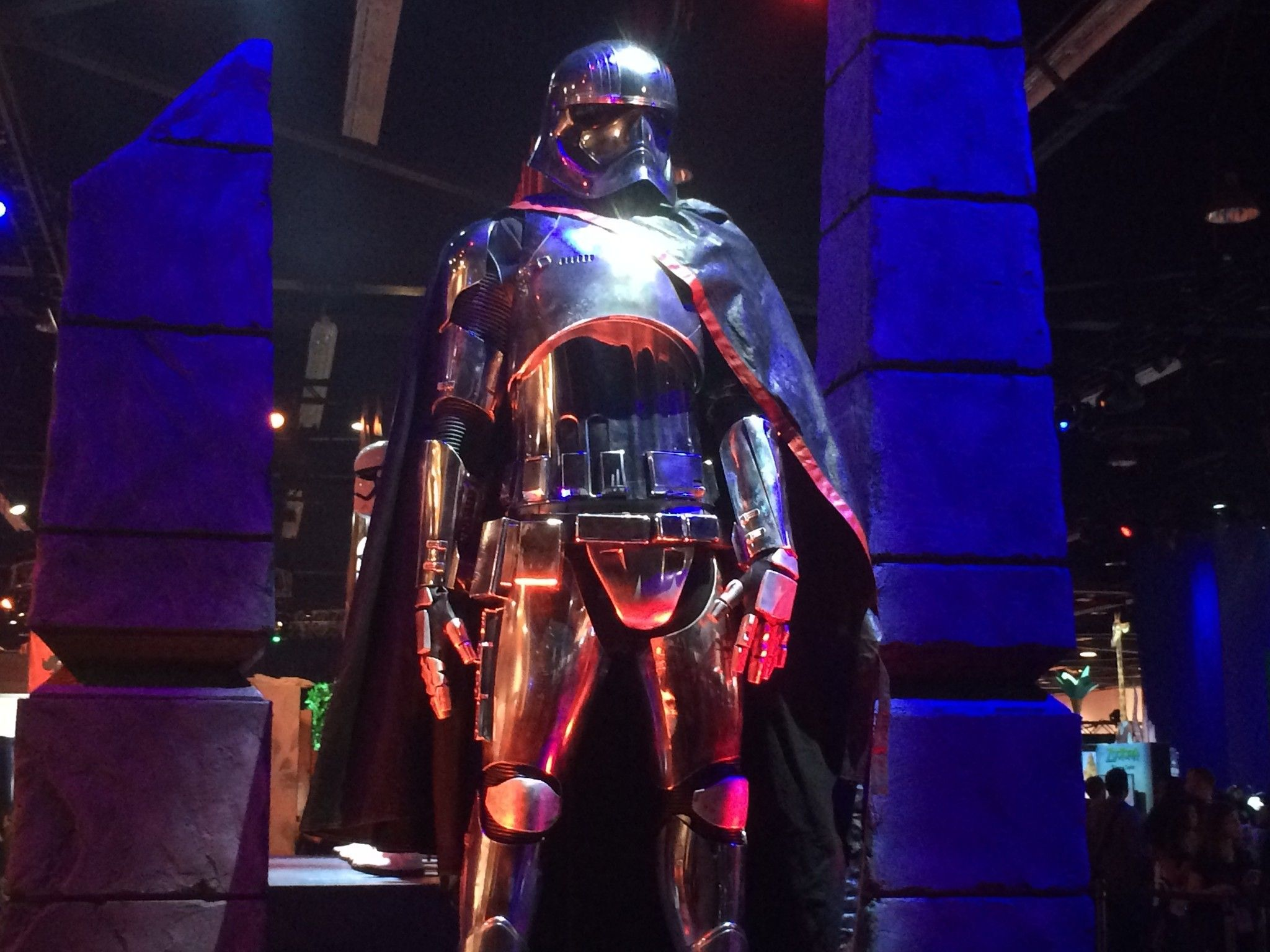 Captain Phasma costume from 'Star Wars: Episode VII' on display at ...