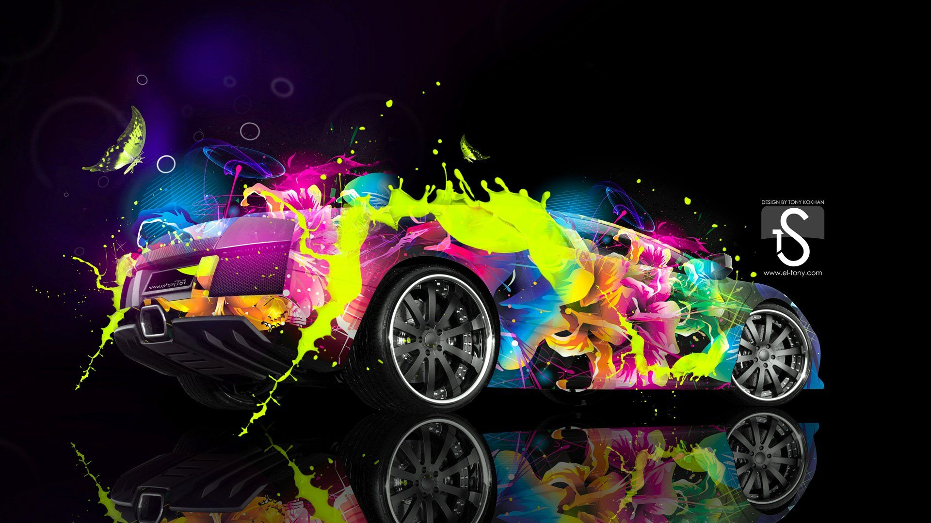 Colorful Lamborghini - WallDevil