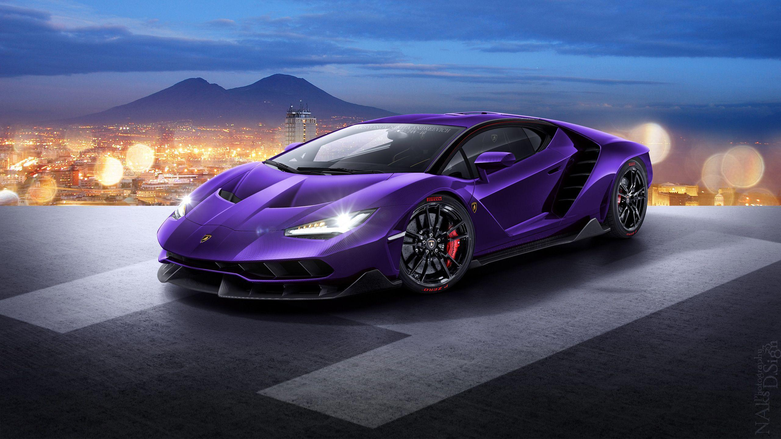 Photo Collection Download Purple Color Lamborghini