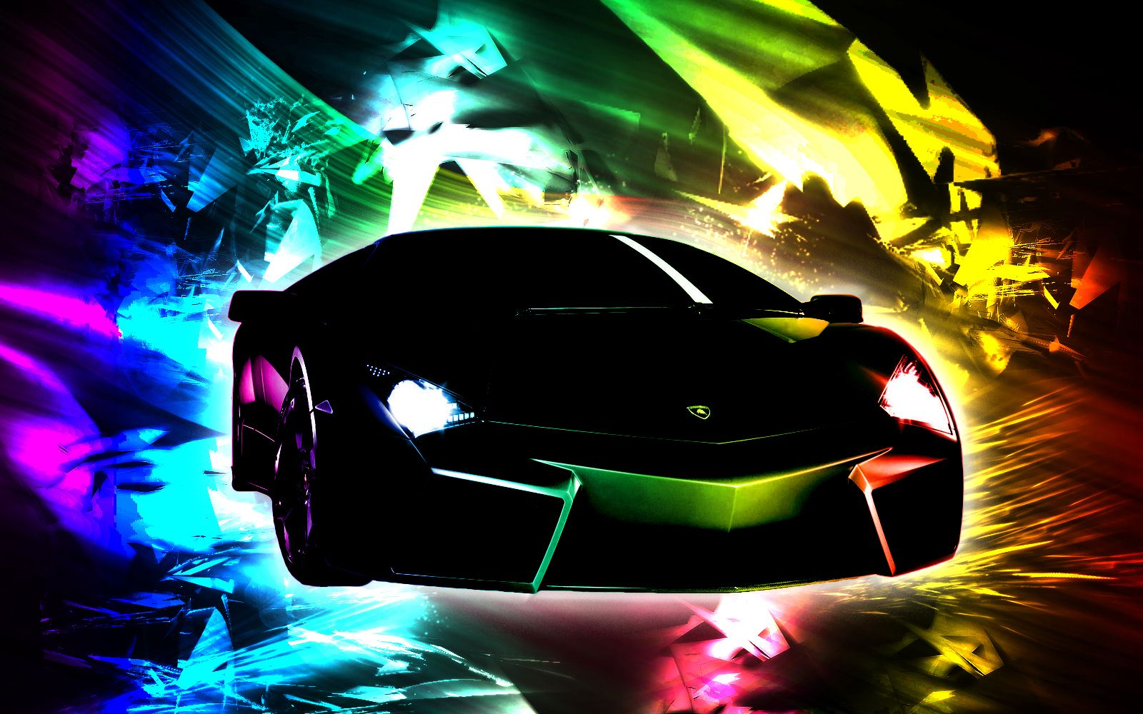 Rainbow Cool Lamborghini Wallpapers ~ Sports Car Wallpaper