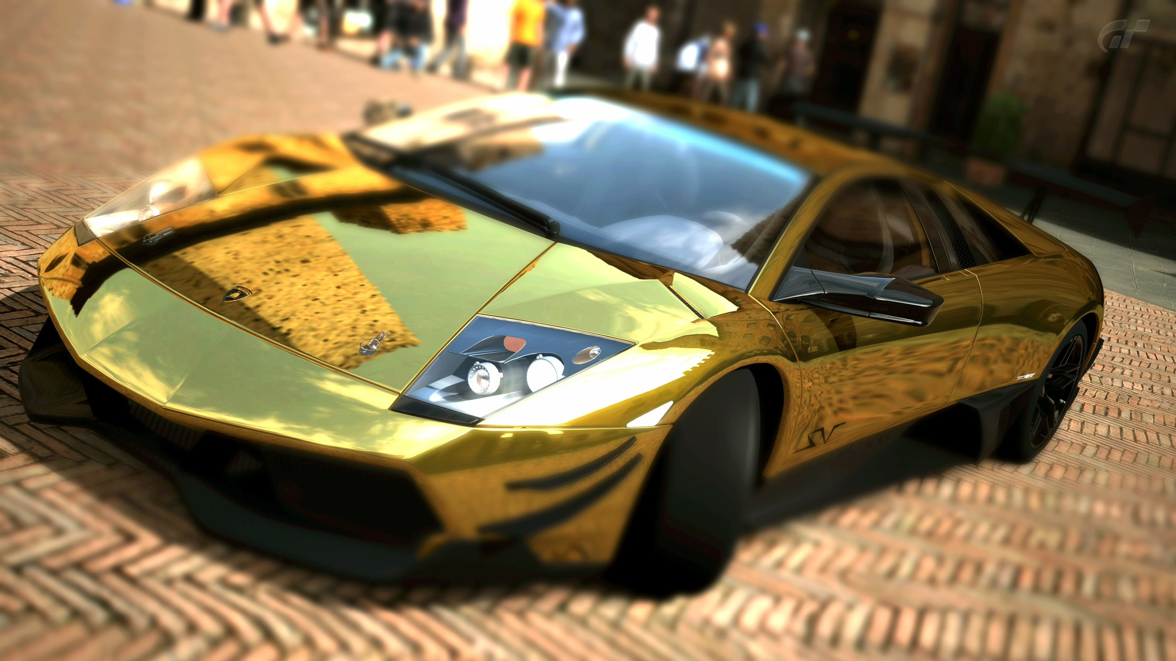 Download wallpaper Lamborghini, murcielago, LP670, SV Gold free ...