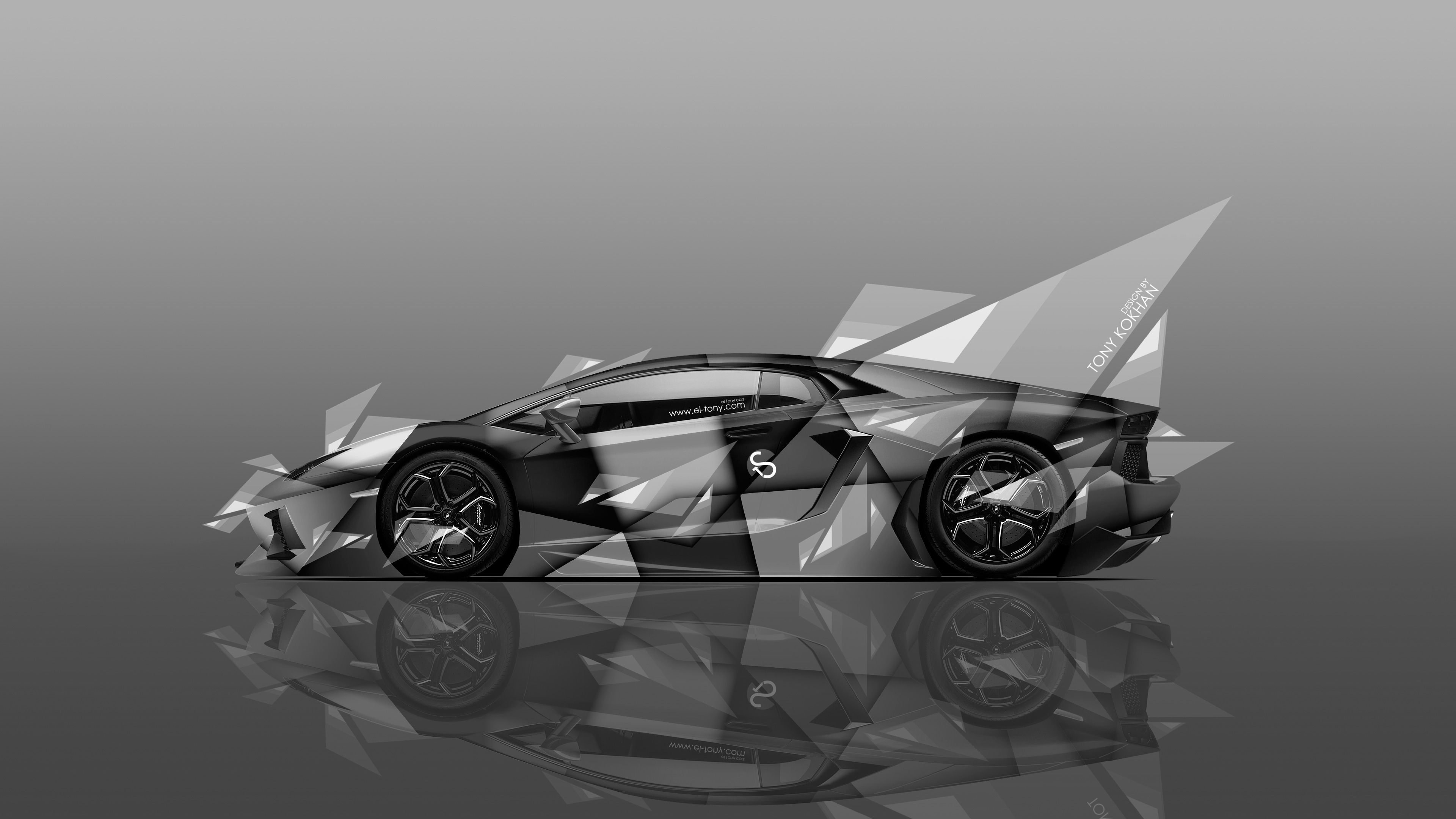 4K Wallpapers Lamborghini Aventador Side Aerography Car 2014 | el Tony