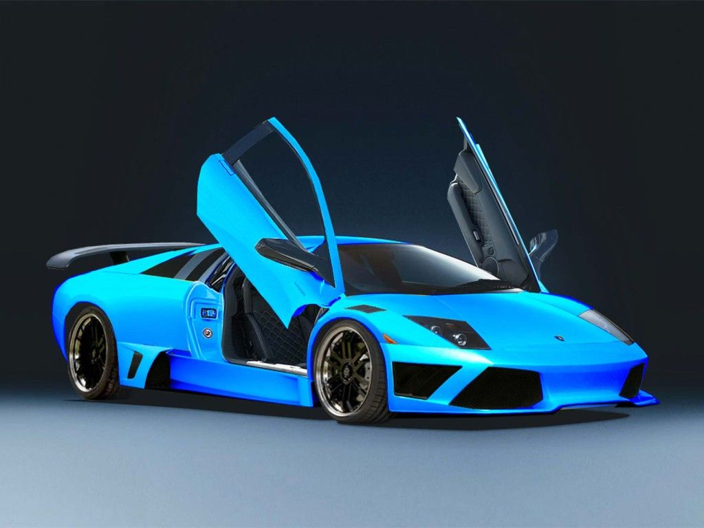 Car Wallpaper HD - Blue Lamborghini Wallpapers 1080p at BozhuWallpaper