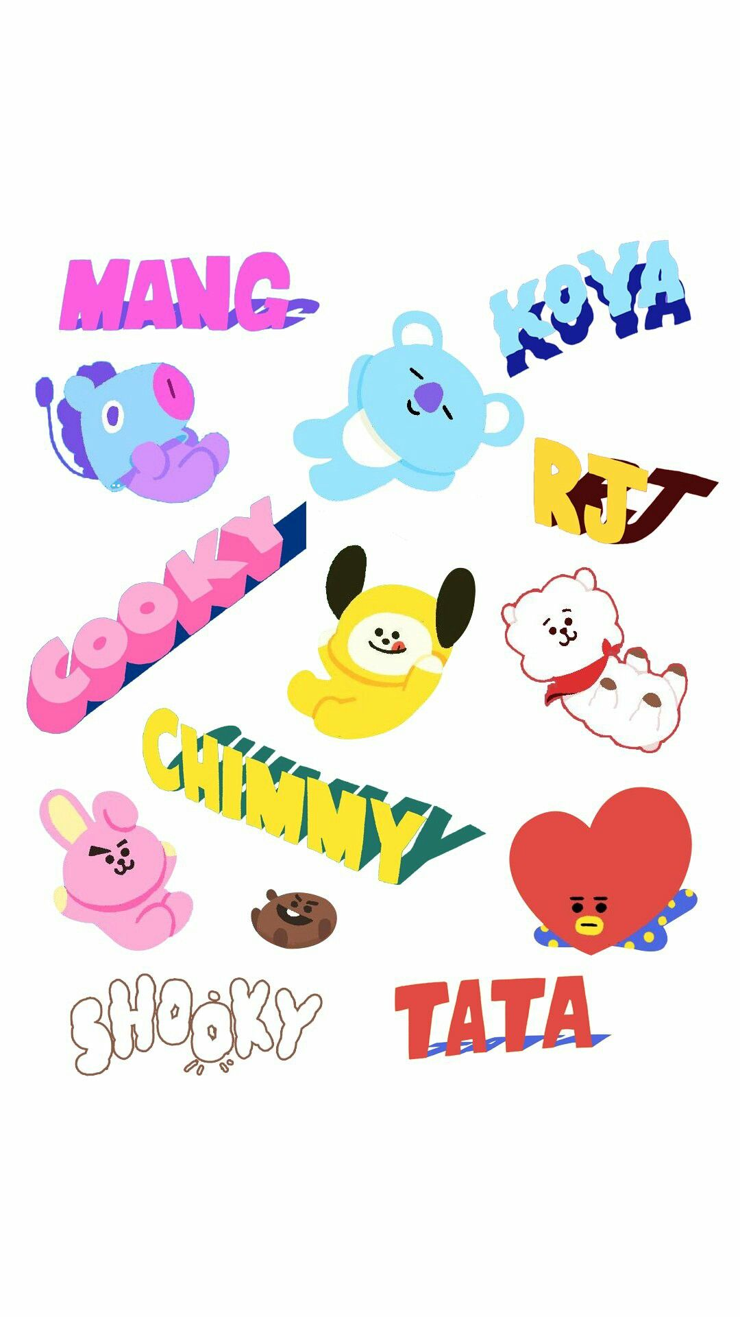 BTS BT21 WALLPAPER | BTS WALLPAPER | Pinterest | BTS, Wallpaper ...