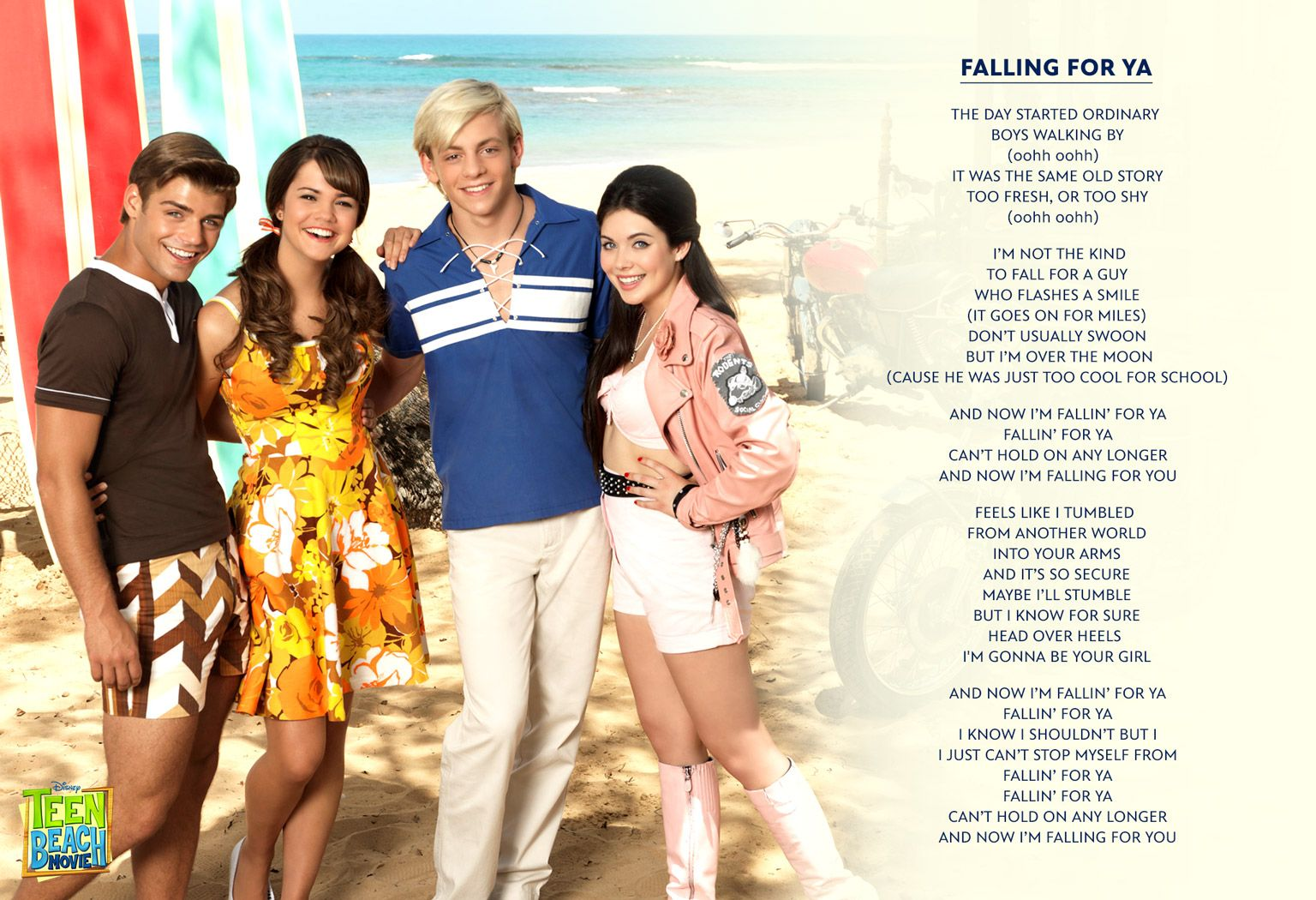 Falling For Ya - Teen Beach Movie - Music Video - Lyrics