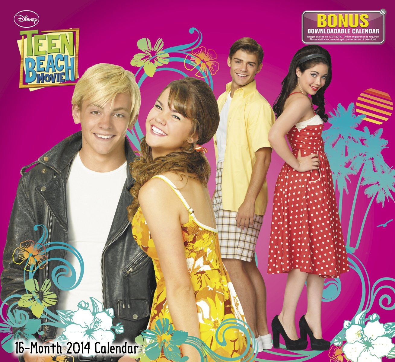 2014 Teen Beach Movie Wall Calendar: Disney: 9781423822257: Amazon ...