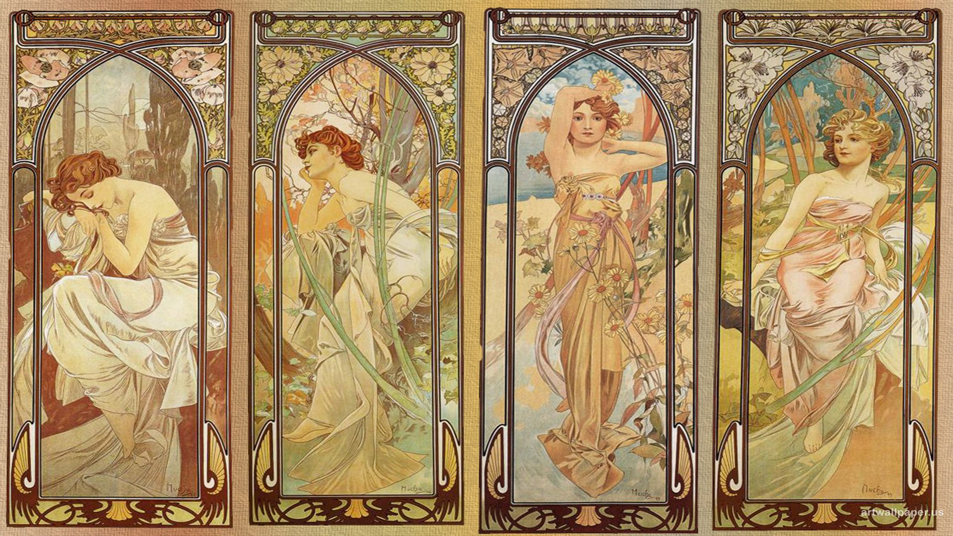 Free Alphonse Mucha Wallpapers Mobile « Long Wallpapers