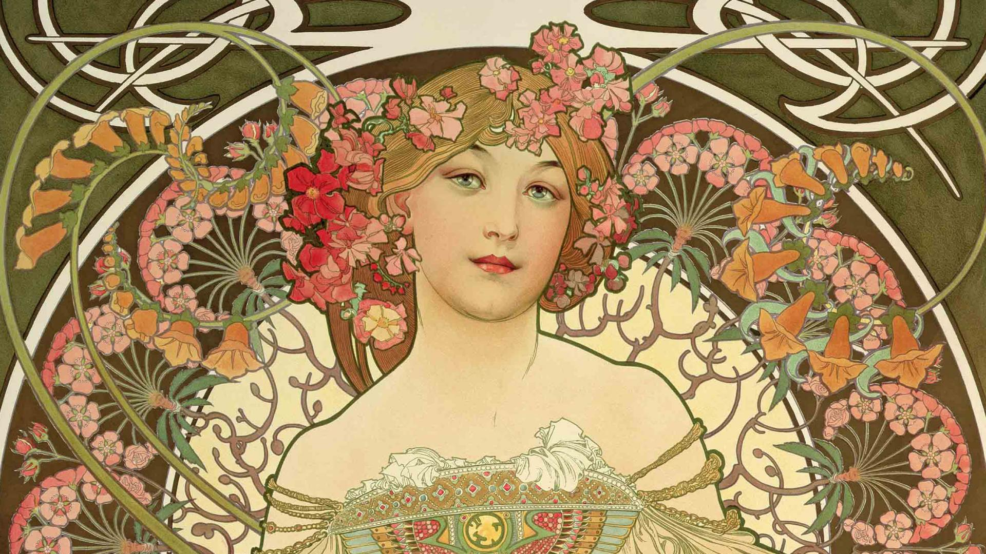Free Alphonse Mucha Wallpaper Full Hd « Long Wallpapers