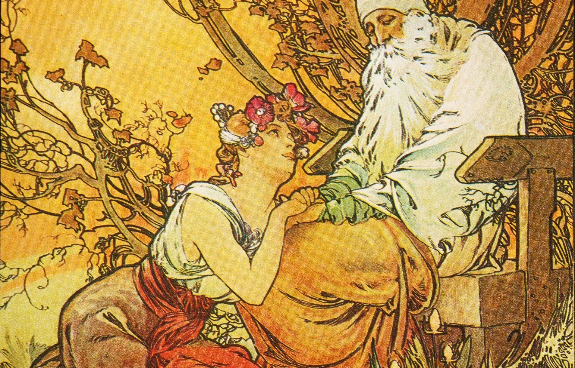 2 Wallpapers by Alphonse Mucha - Wallpaper Abyss