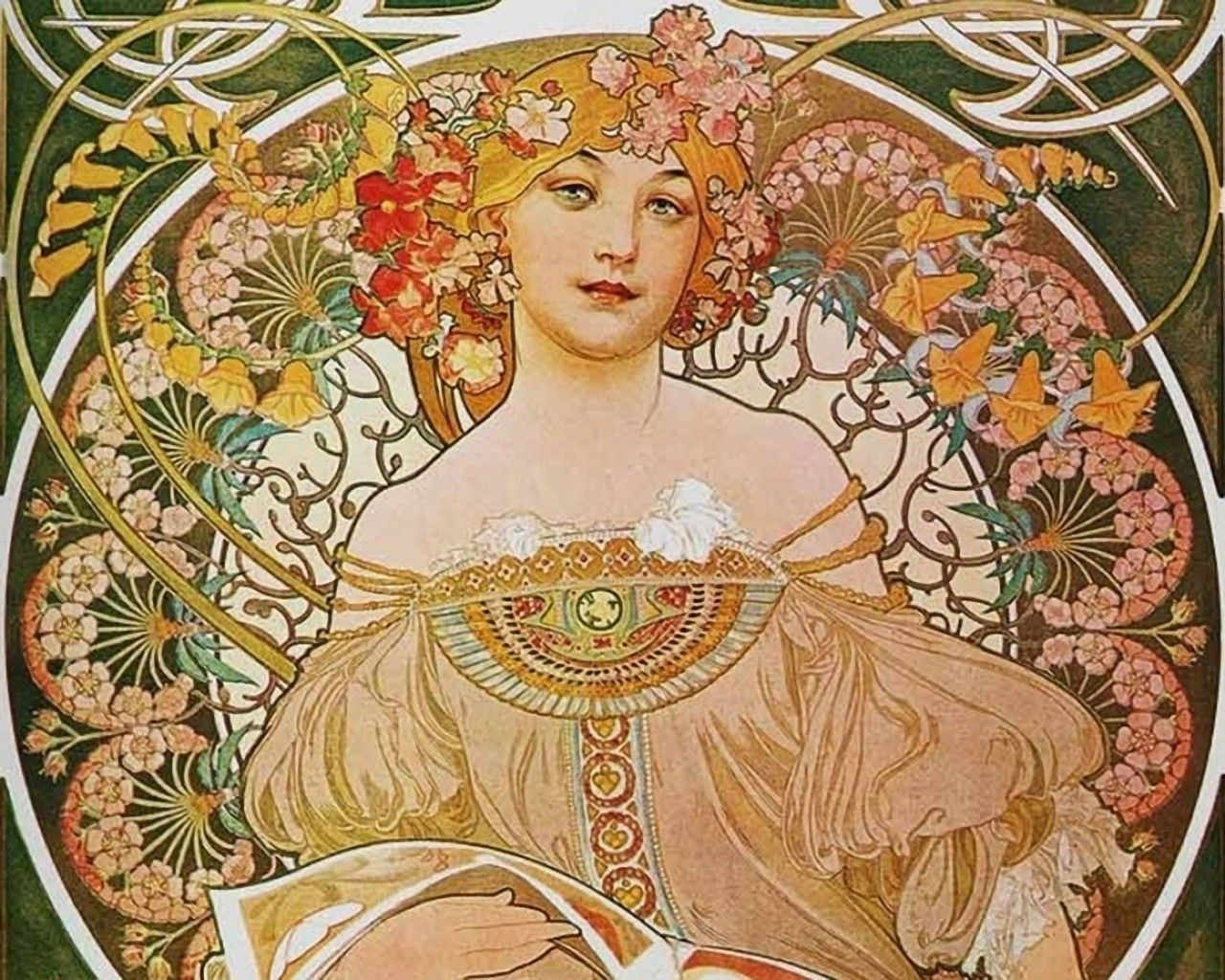Images of Alphonse Mucha Artwork Wallpaper - #SC