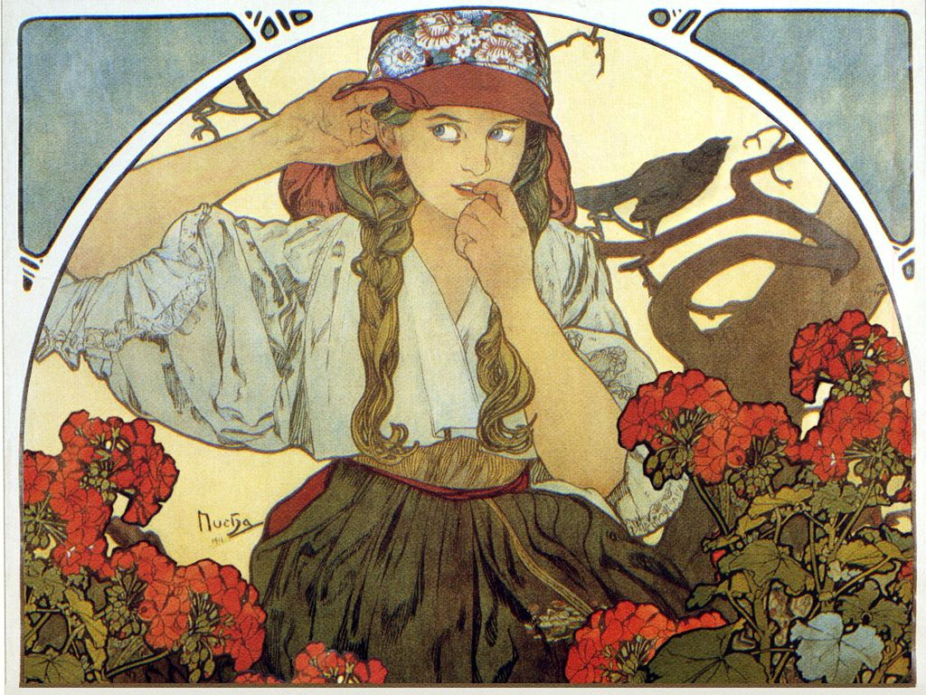Free Alphonse Mucha Wallpaper Hd « Long Wallpapers
