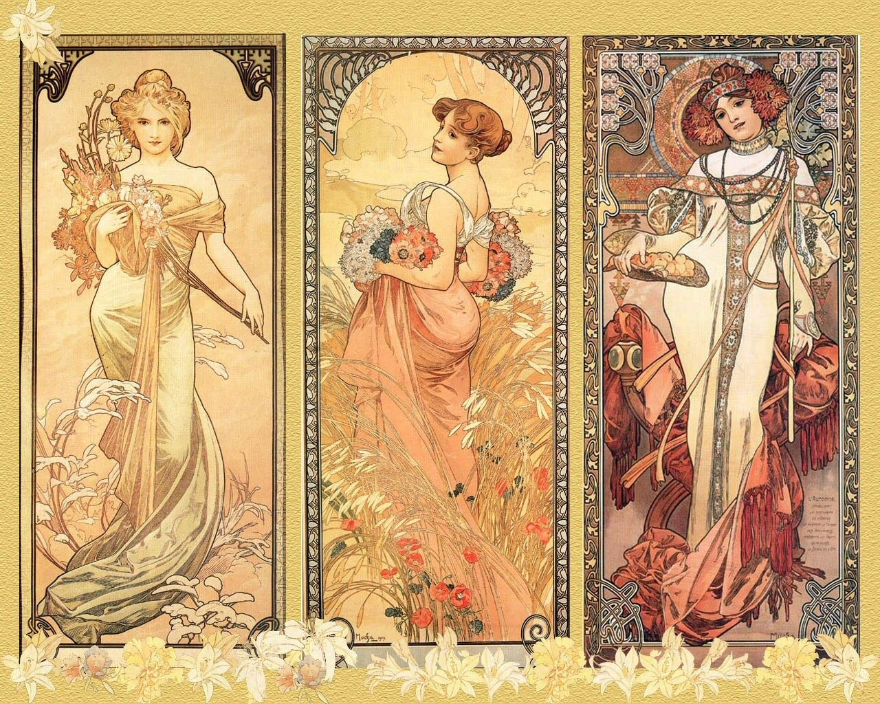 Free Alphonse Mucha Wallpaper For Android « Long Wallpapers