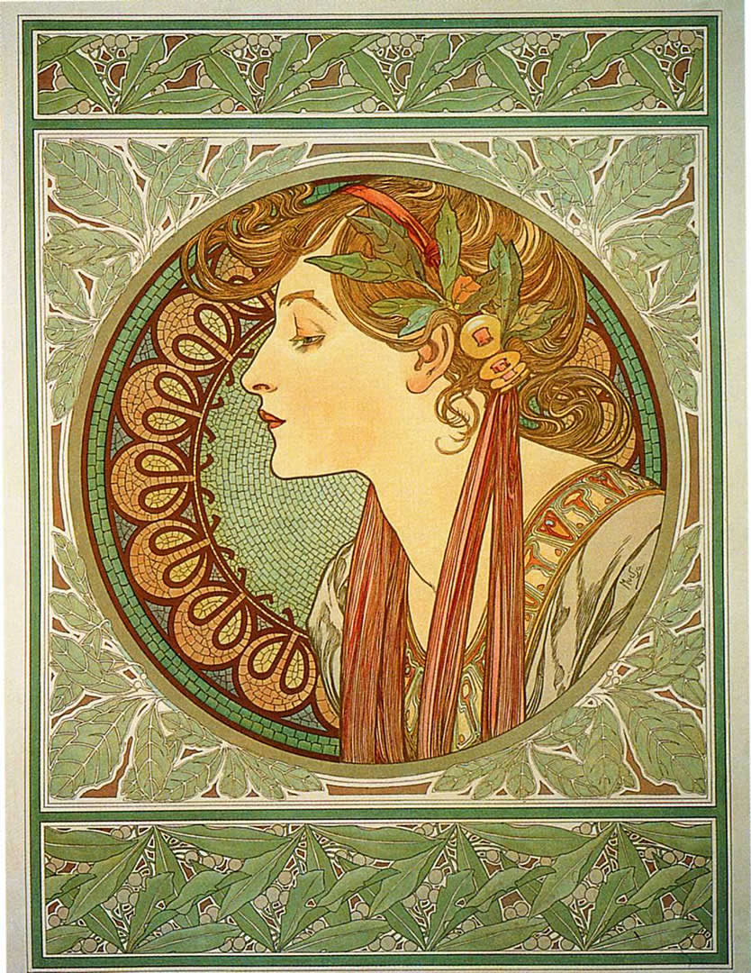 Laurel - Alphonse Mucha Wallpaper Image