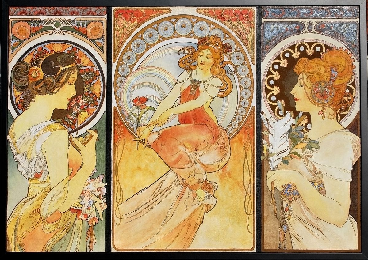 Alfons Mucha Tribute by natalia-virlan on DeviantArt