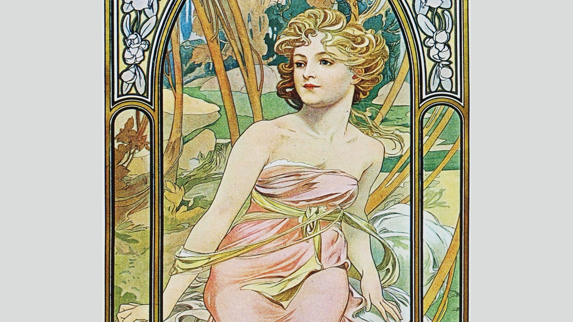alphonse mucha background full hd wallpaper background photos ...