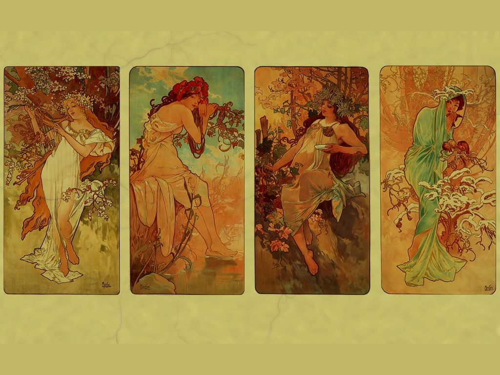 My Free Wallpapers - Artistic Wallpaper : Alphonse Mucha