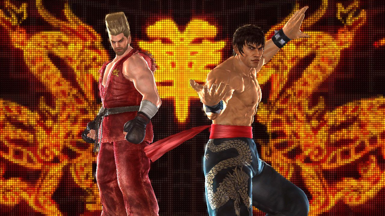Paul and Marshall Law in that fancy fight intro scene. | TEKKEN ...