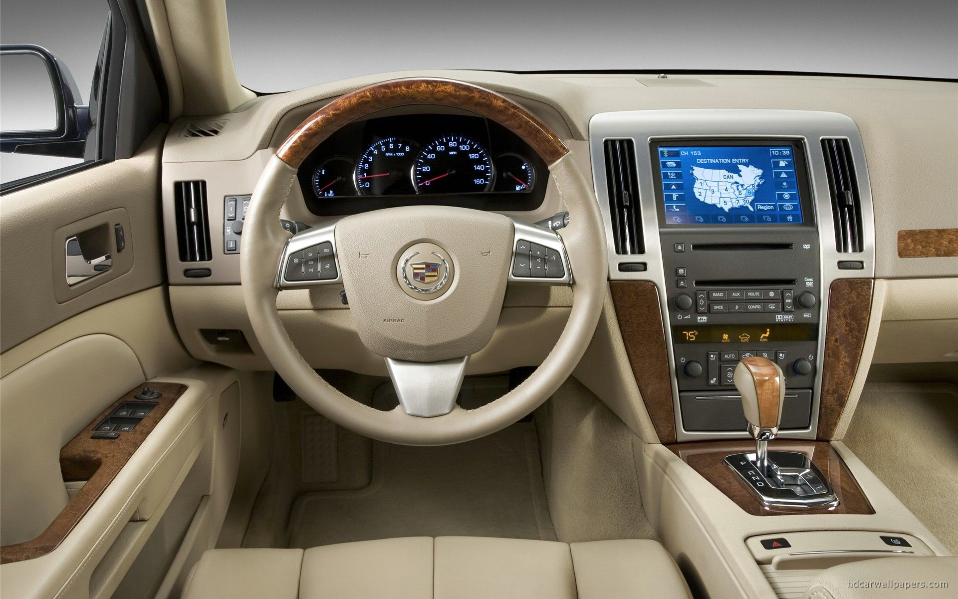 Cadillac STS Car Interior Wallpaper | HD Car Wallpapers