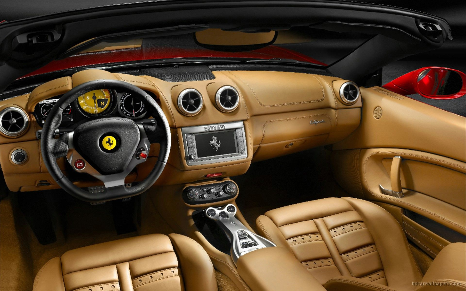 2009 Ferrari California Interior Wallpaper | HD Car Wallpapers