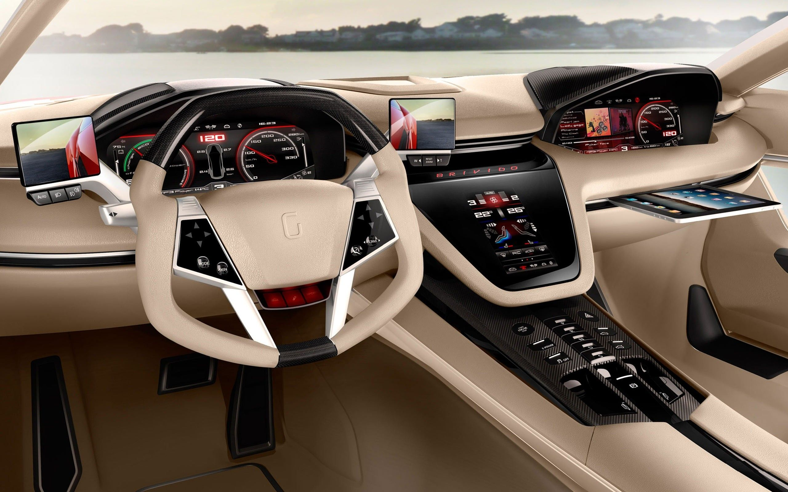 Car Interiors Wallpaper 2560x1600 Car, Interiors, Giugiaro ...