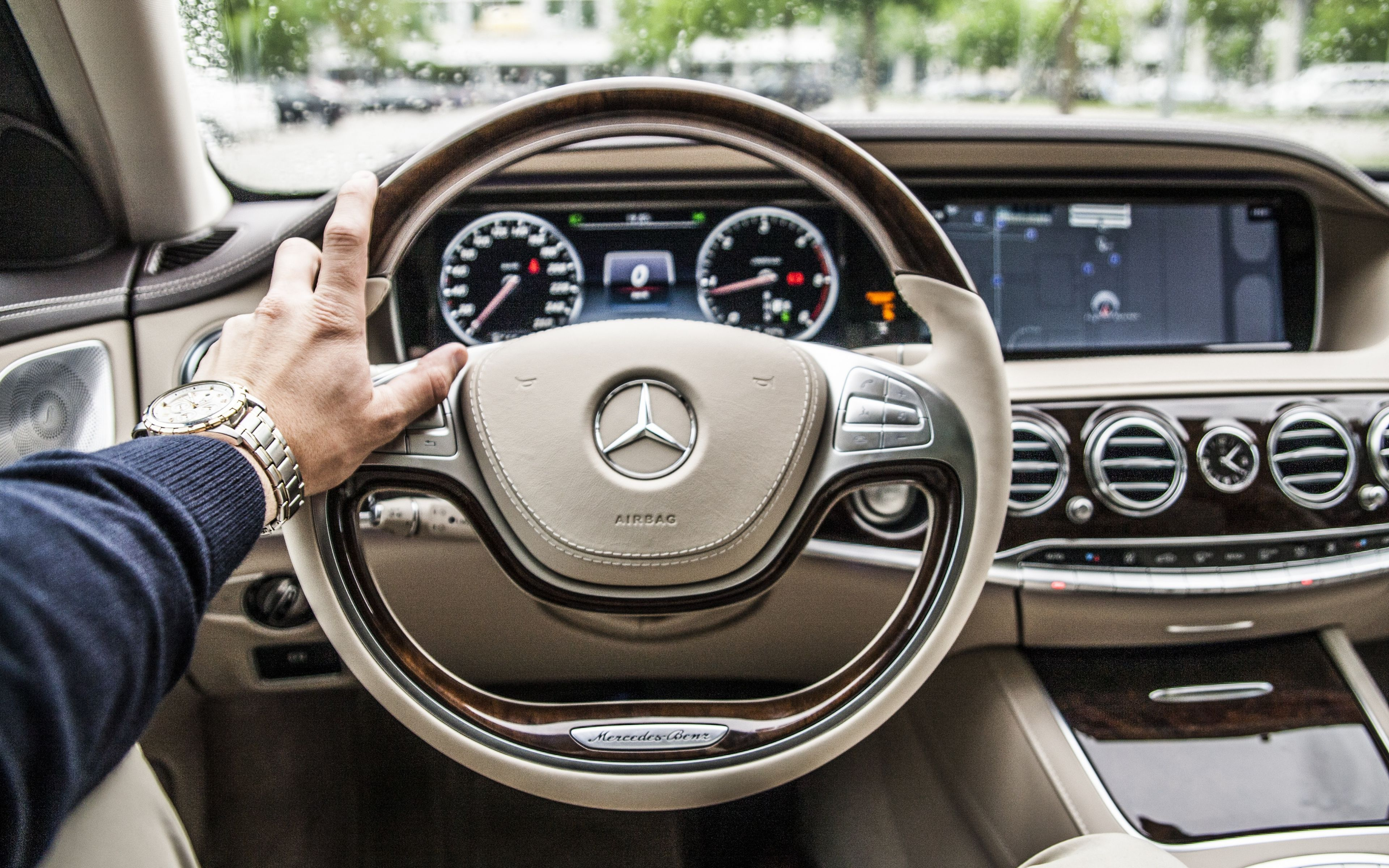 Mercedes Benz Steering Wheel Car Interior HD Wallpaper ...