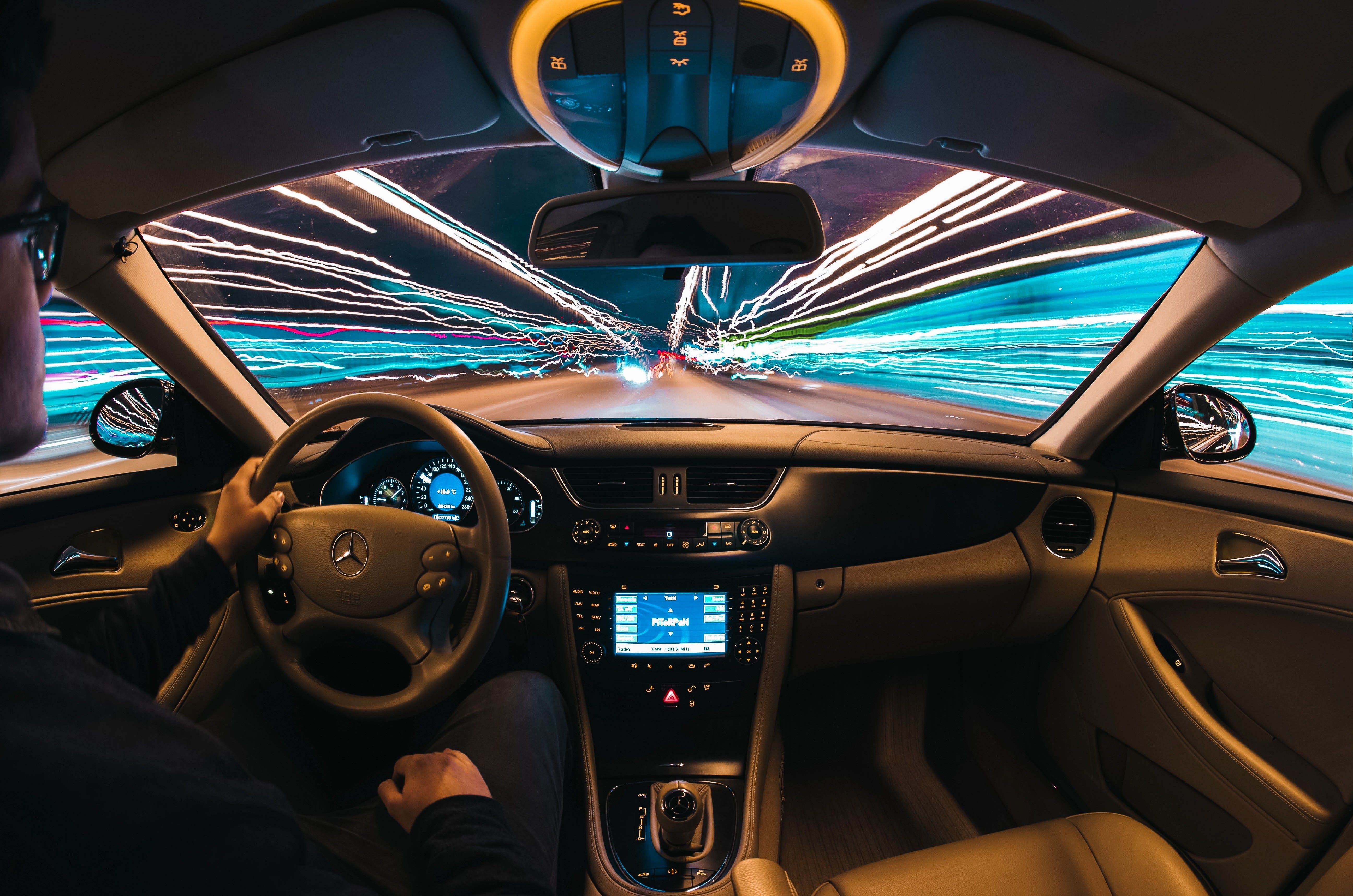 car interior, Light trails, Night Wallpapers HD / Desktop and ...