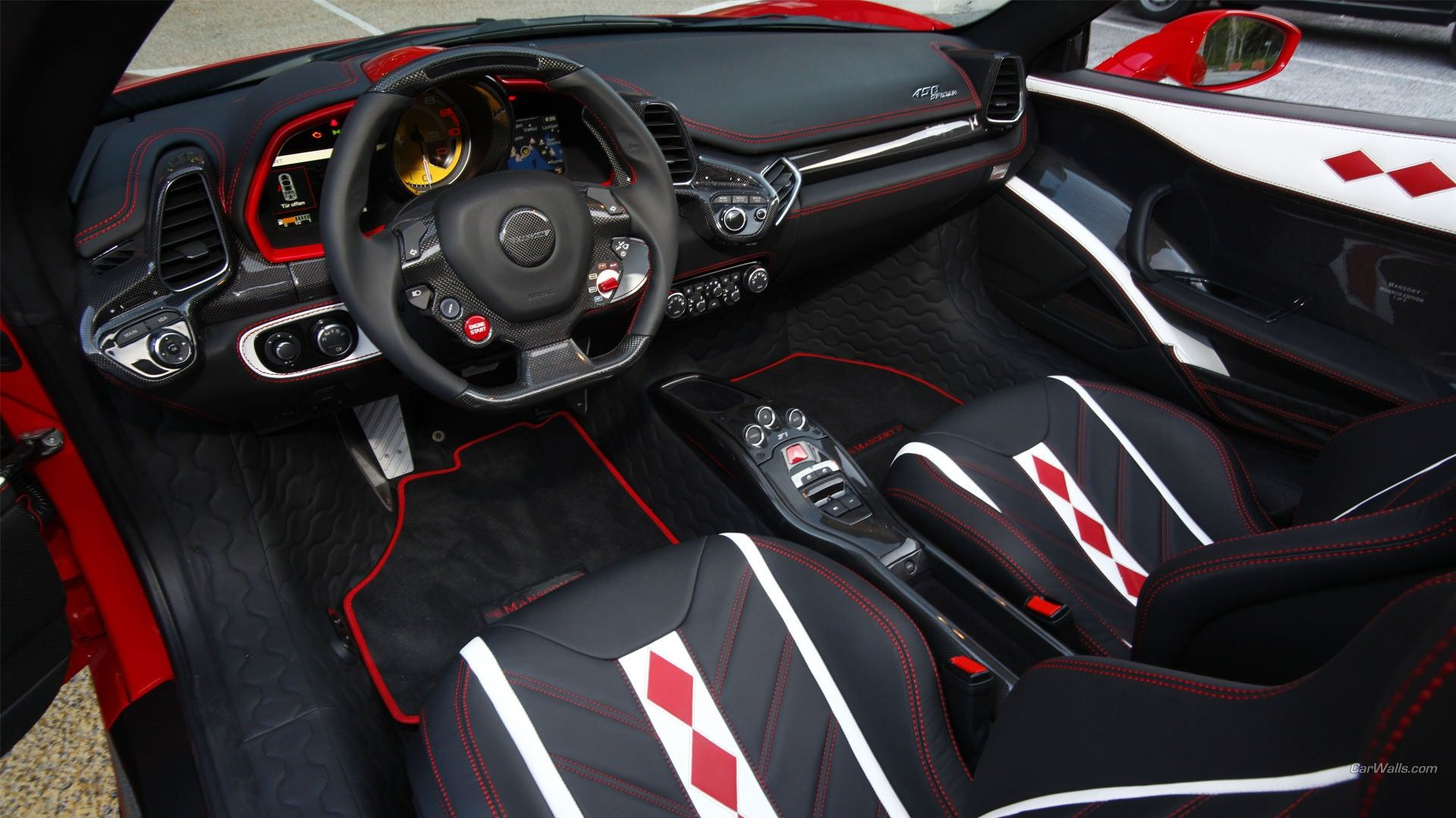 Ferrari 458, Supercars, Car Interior Wallpapers HD / Desktop and ...