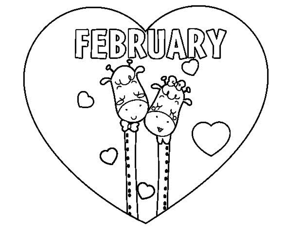 february coloring pages printables | February Coloring Pages Printable For Kids - GreePX