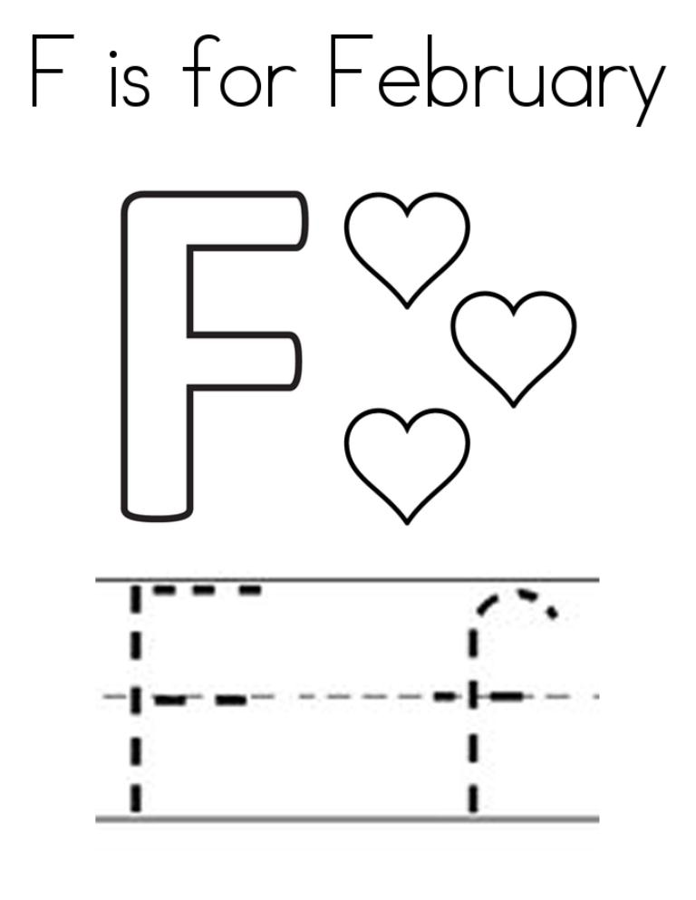 February Coloring Pages Printable For Kids Greepx
