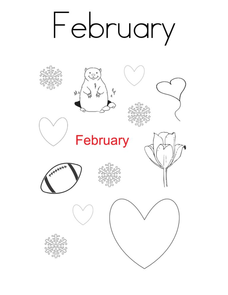 February Coloring Pages Printable For Kids - GreePX