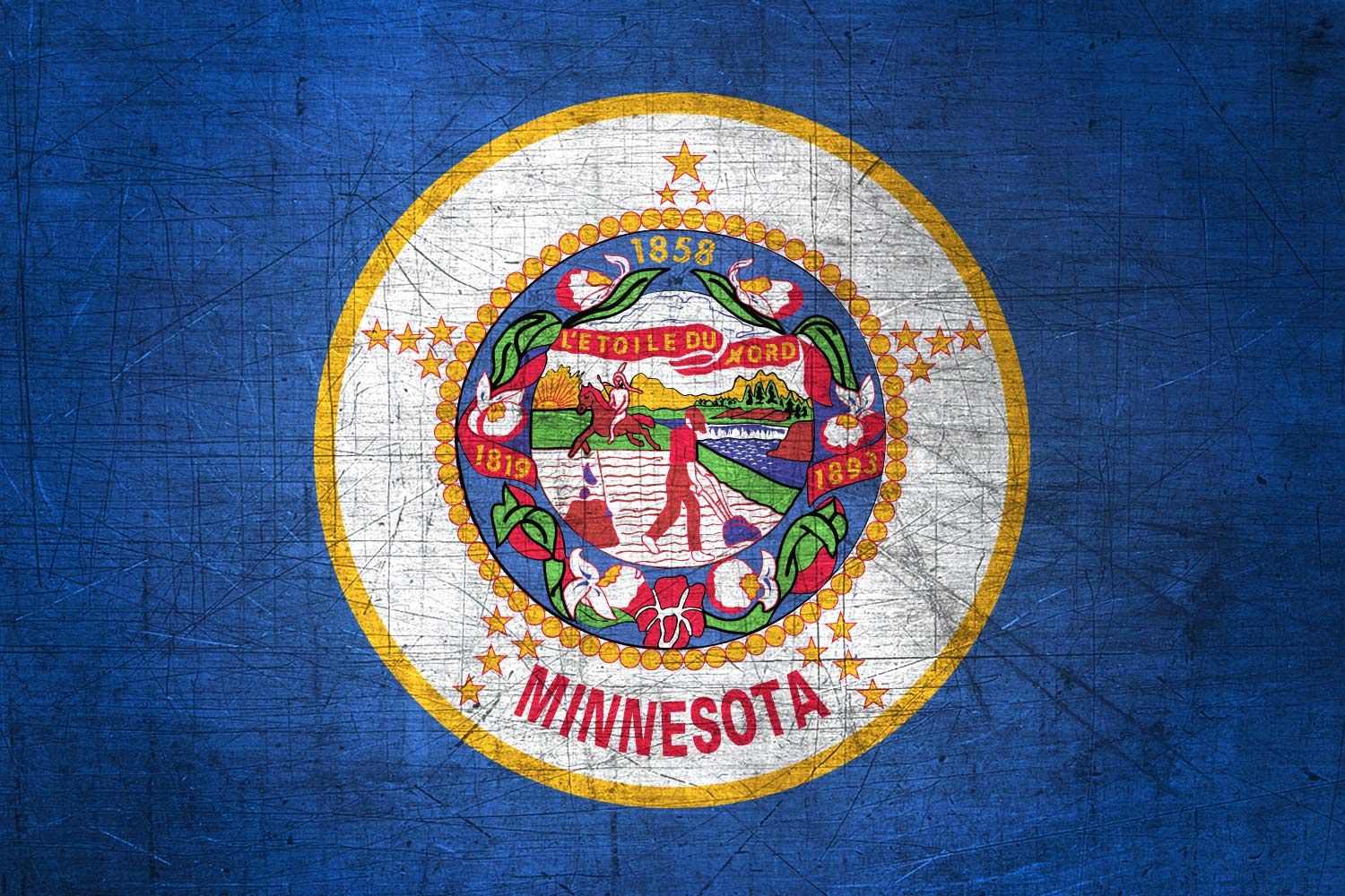 Minnesotan Flag Metal (Flag of Minnesota) - Download it for free