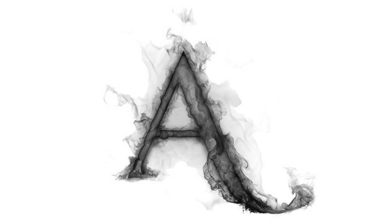 Wallpapers Flower Smoke Letter A Alphabet English Gray 1366x768 ...