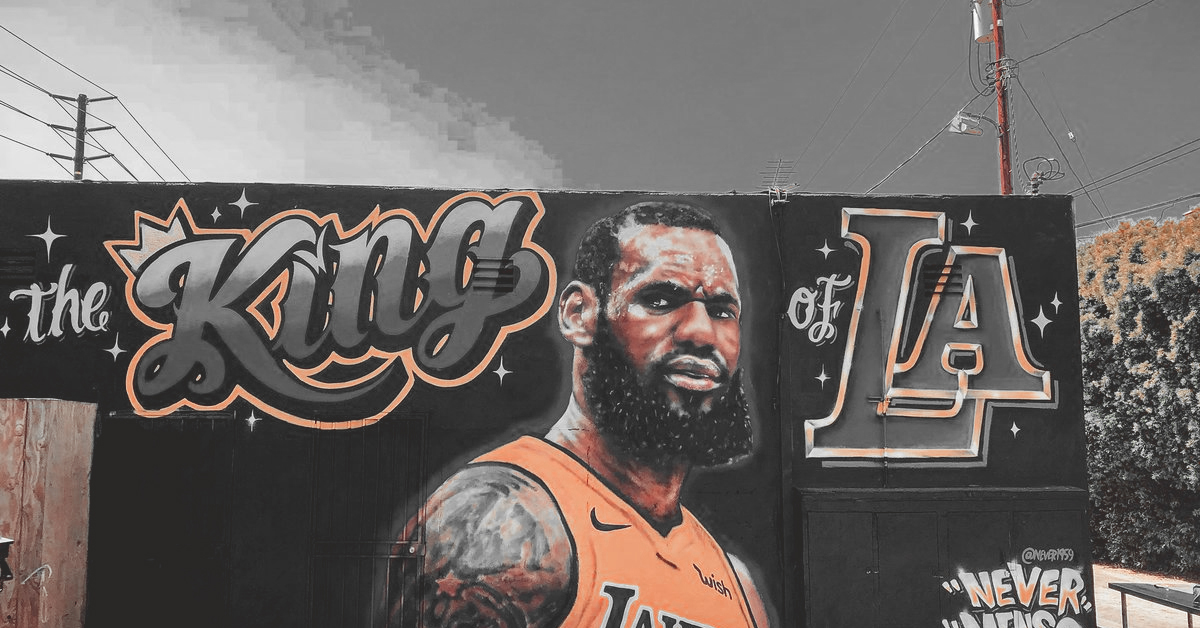 LeBron James Los Angeles Lakers own mural