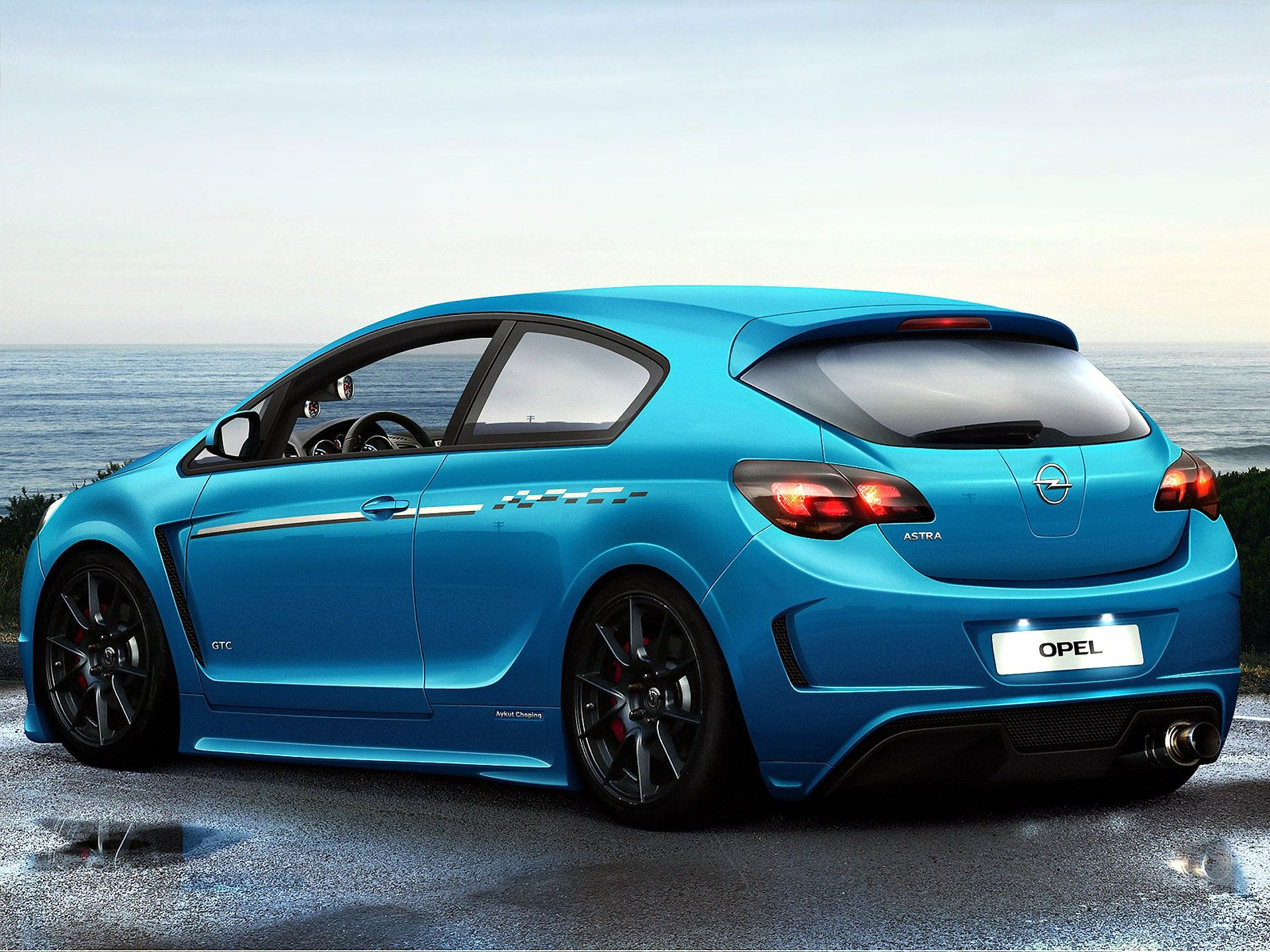 Opel astra coupe gtc, wallpapers backgrounds -> www.yours-cars.eu ...