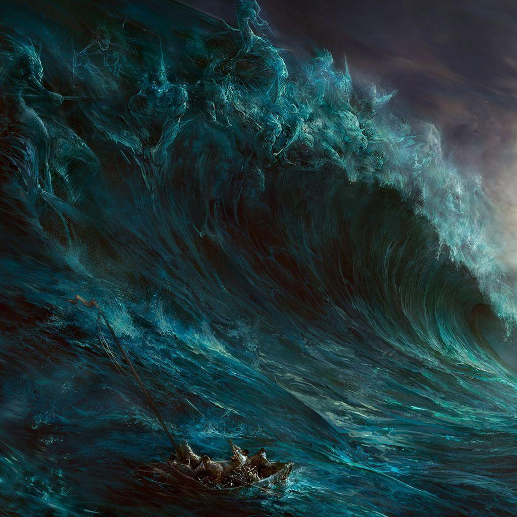 tsunami, iPad Backgrounds, Best iPad Wallpaper, Wallpaper