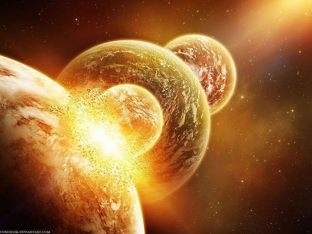 colliding planets Wallpaper   High Quality Wallpaper