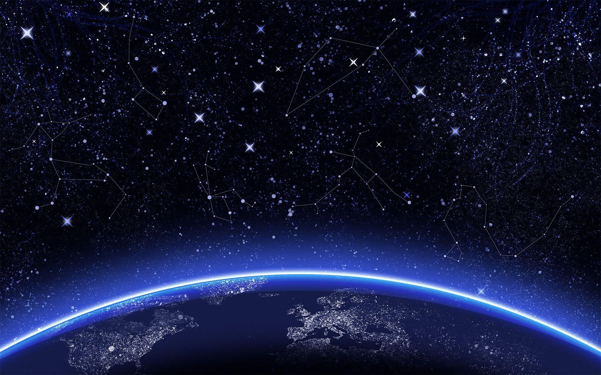 Wallpapers For > Night Sky Stars Wallpaper