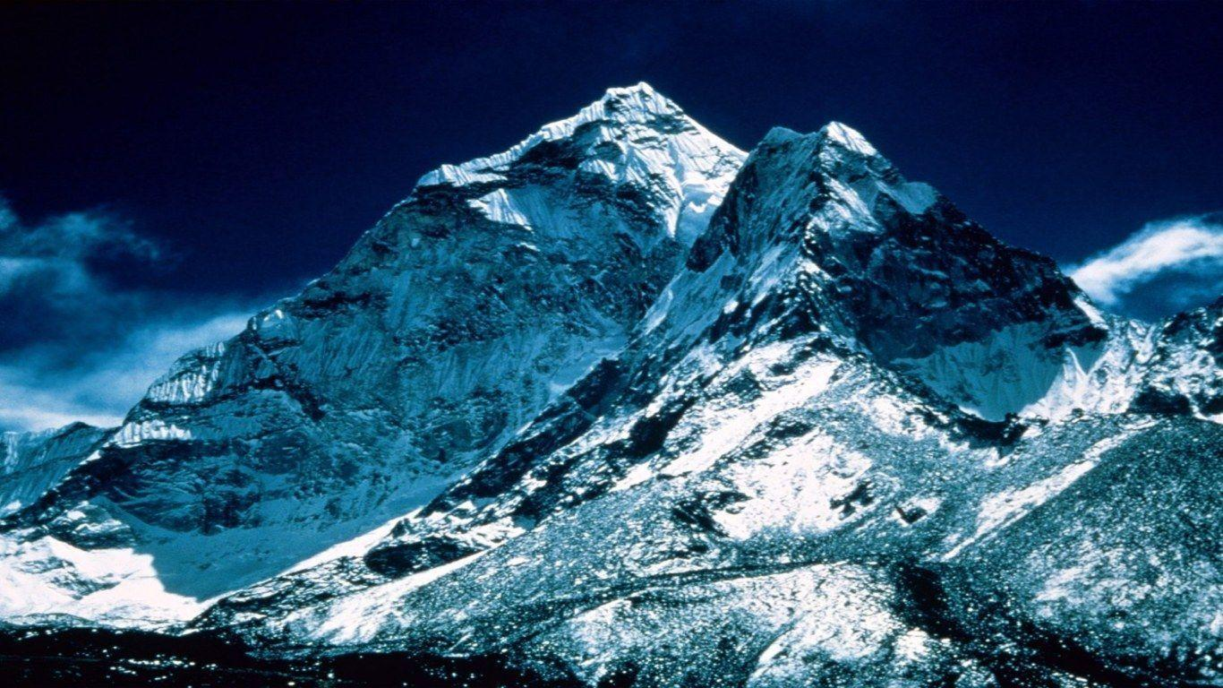 1366x768 mount-everest-peak desktop PC and Mac wallpaper