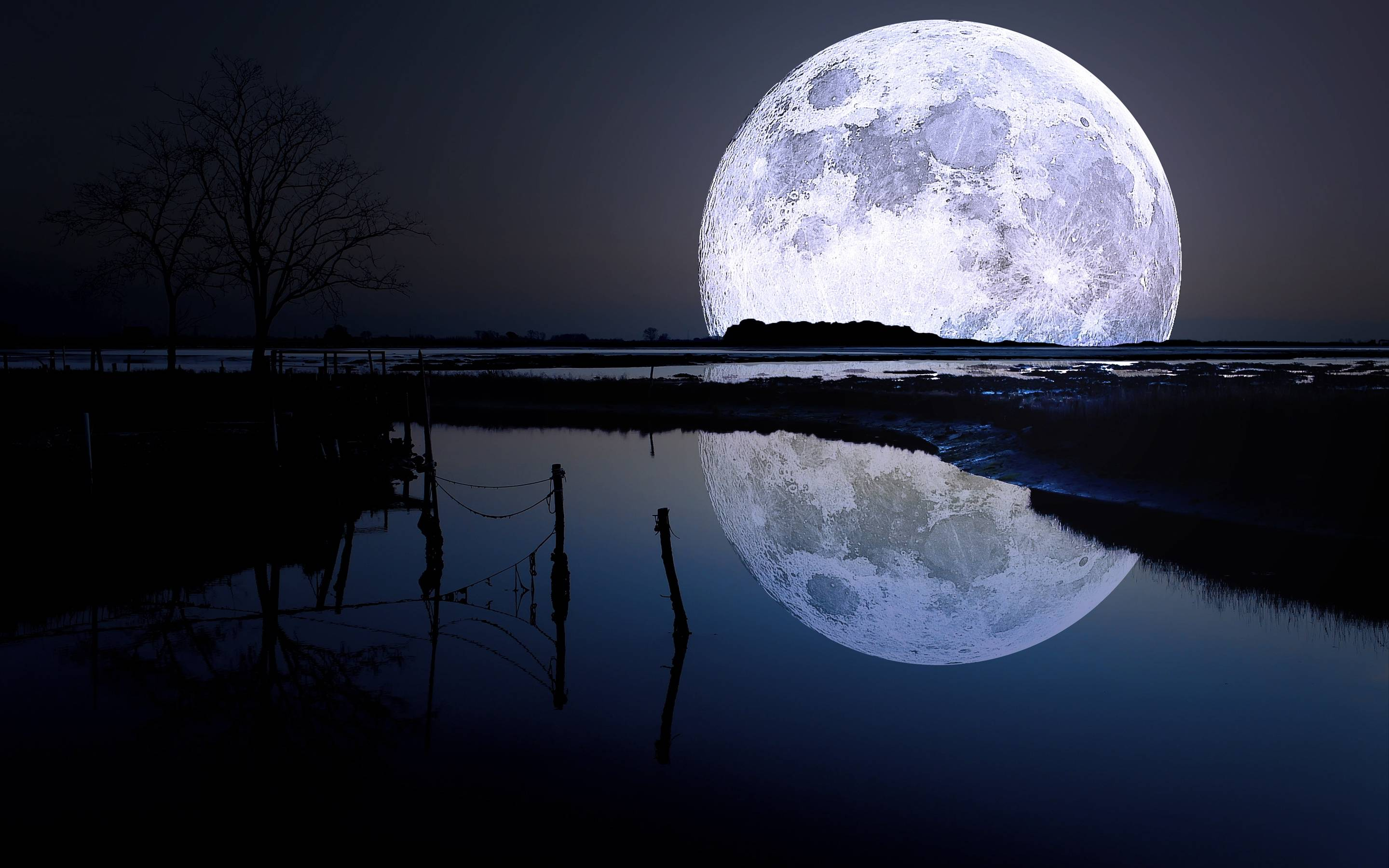Full moon lagoon Wallpapers   Pictures