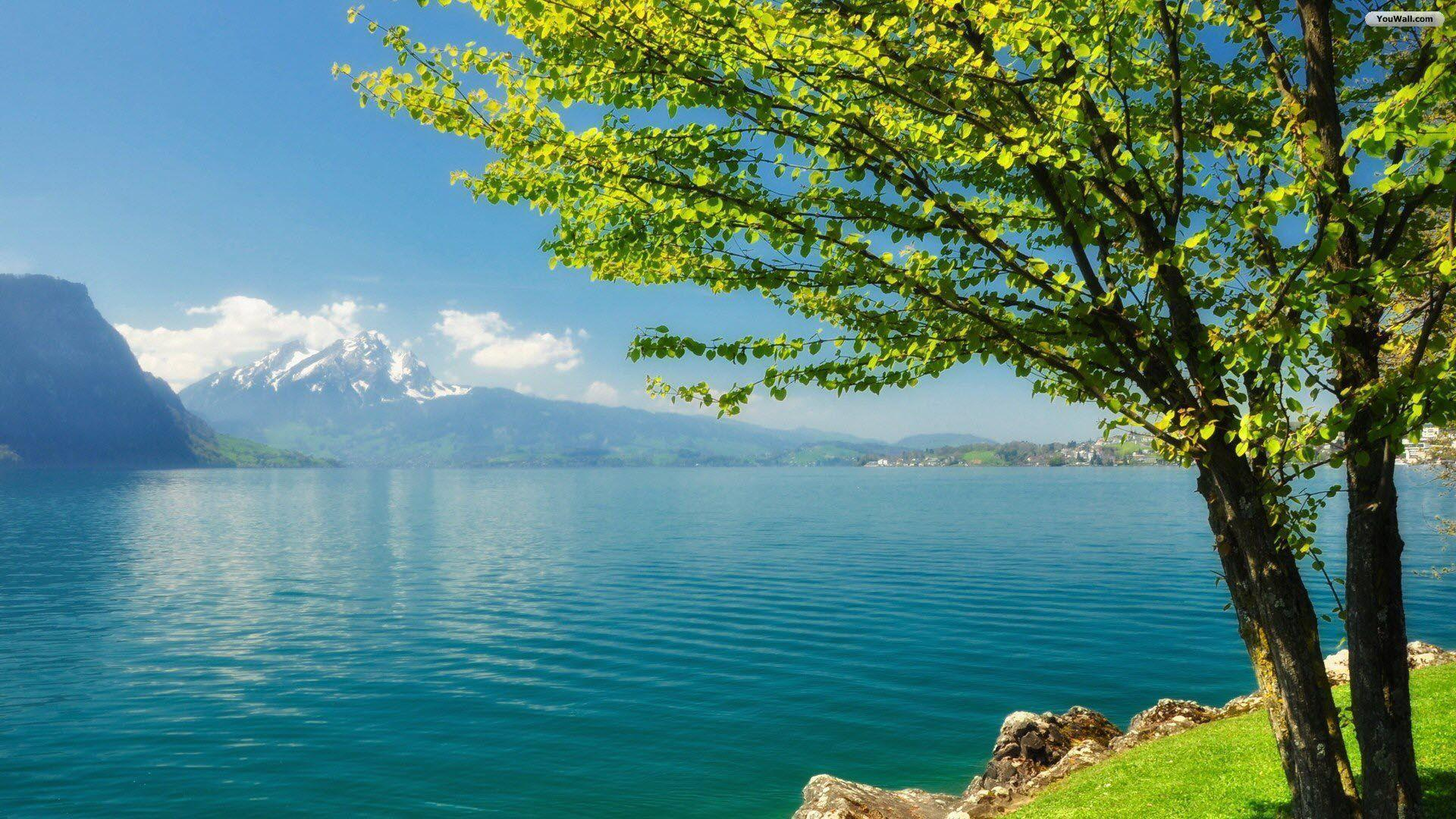 YouWall - Beautiful Quiet Lake Wallpaper - wallpaper,wallpapers ...