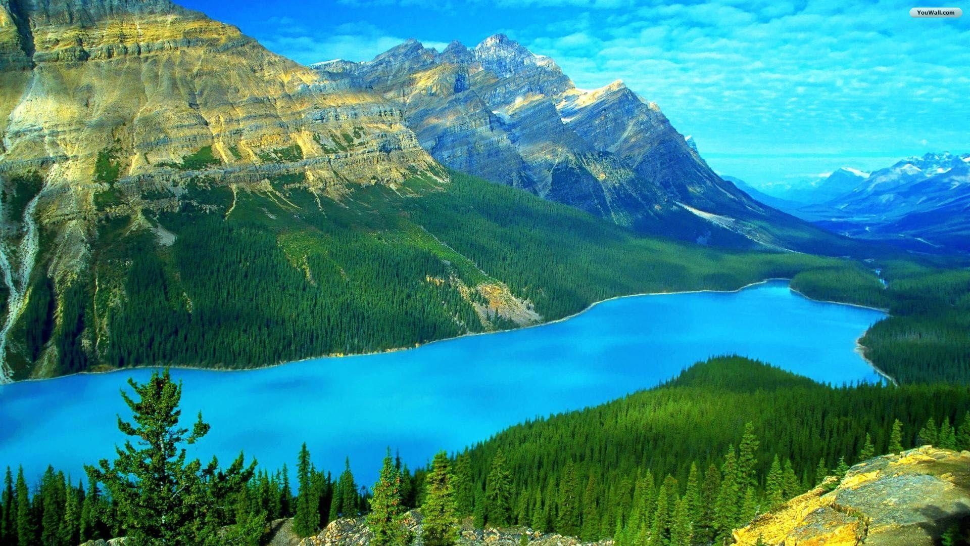 YouWall - Heavenly Blue Lake Wallpaper - wallpaper,wallpapers,free ...