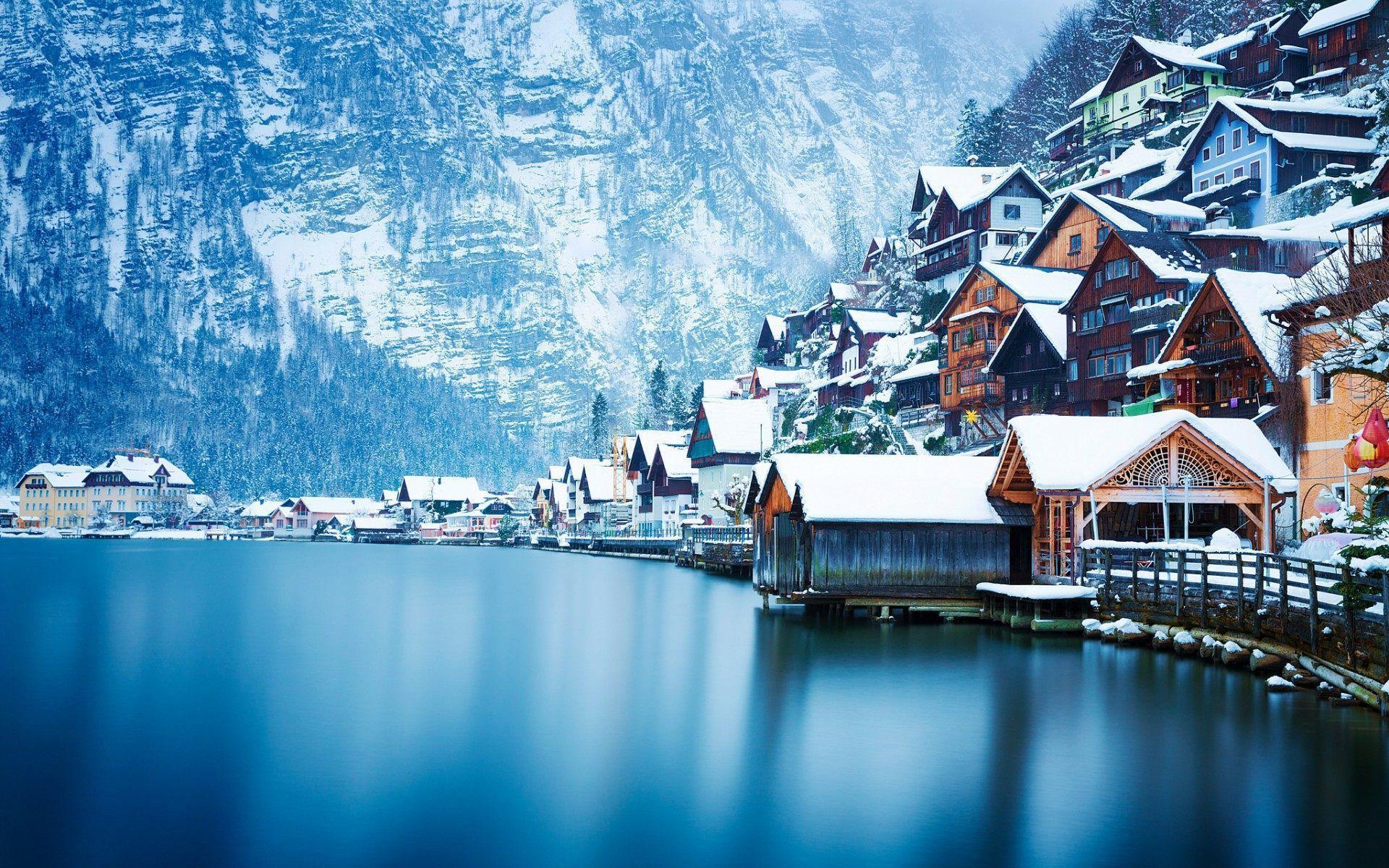 Hallstatt lake wallpaper HD background download desktop • iPhones ...