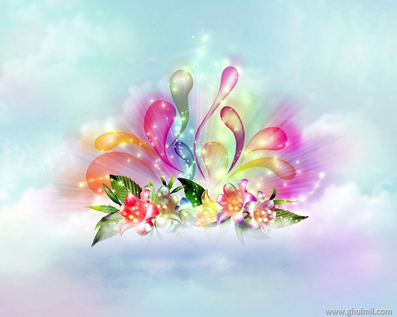 Beautiful 3d Flowers Wallpapers on WallpaperGet.com