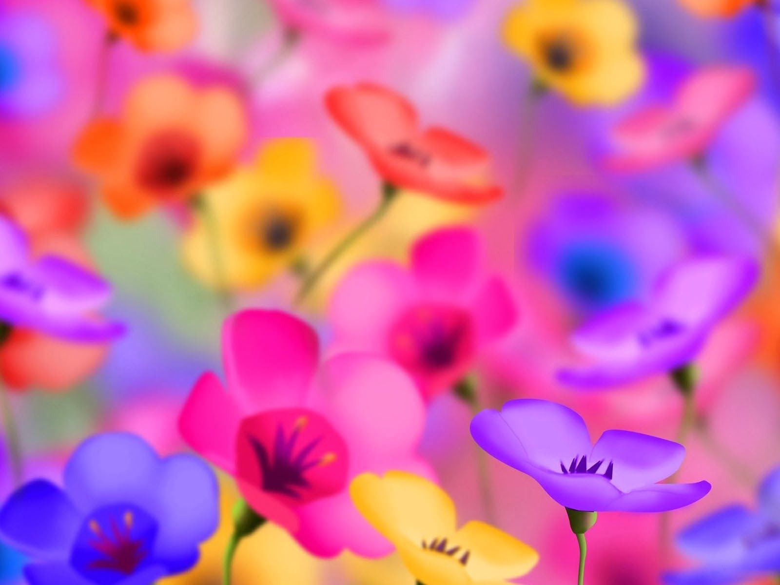 art pictures: 3D Flowers Wallpapers