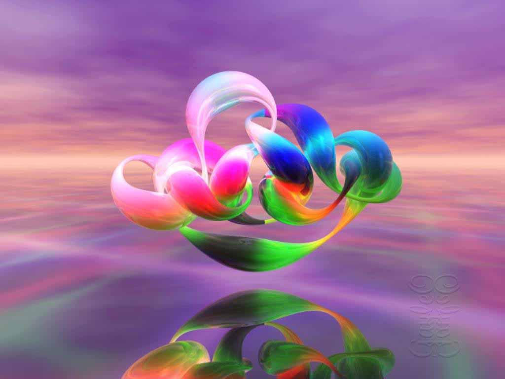3D Fantasy And Colorful Flowers Wallpaper | WallpaperLepi