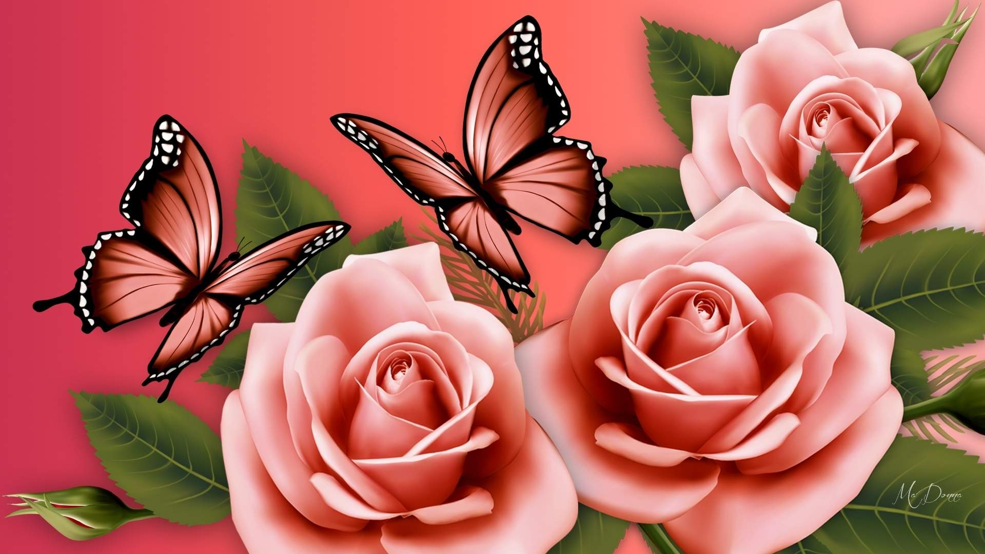 flowers with butterfly wallpaper hd flower and butterfly wallpaper ...