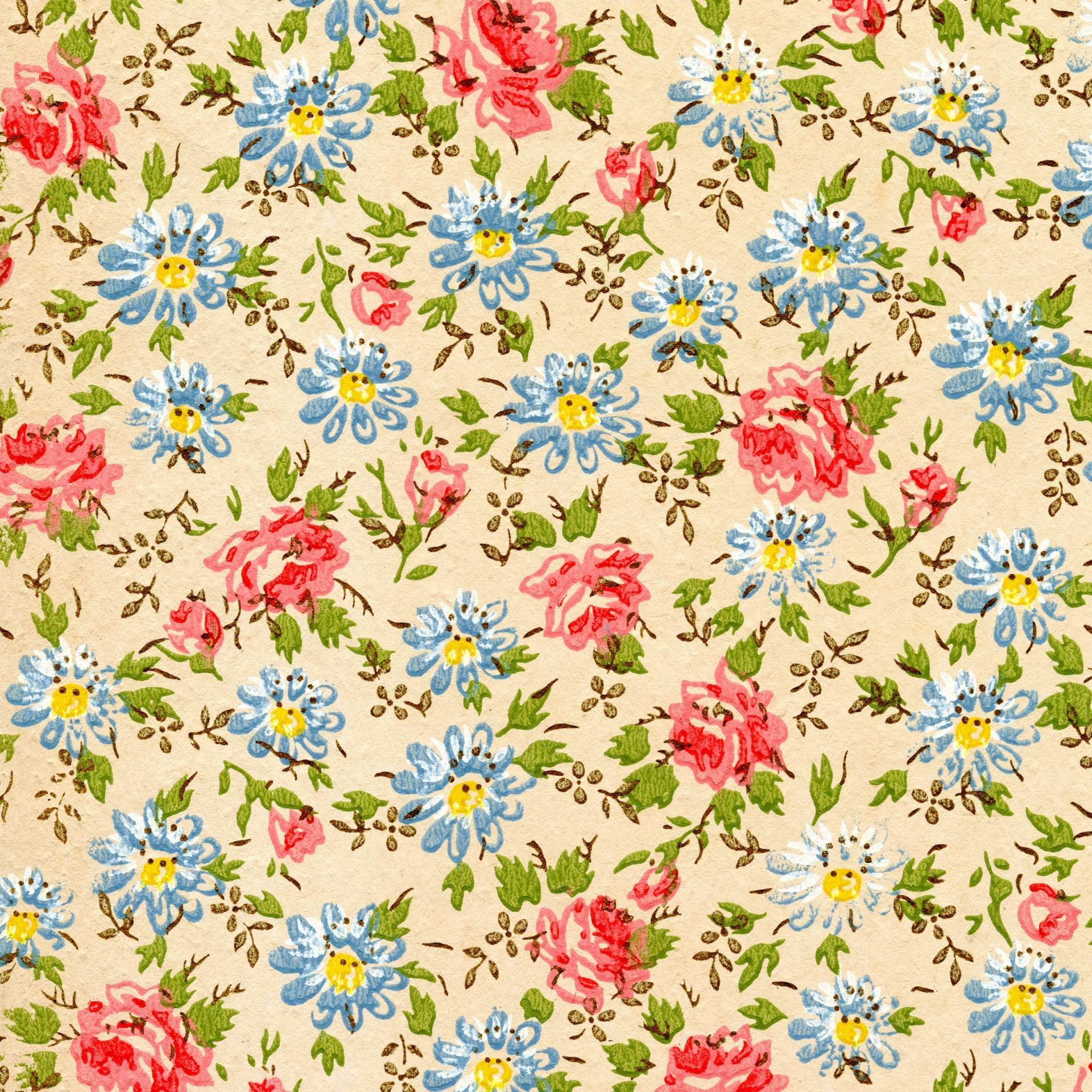 Vintage Flower Wallpaper For Iphone Wallpaper | FlowerHDWallpaper