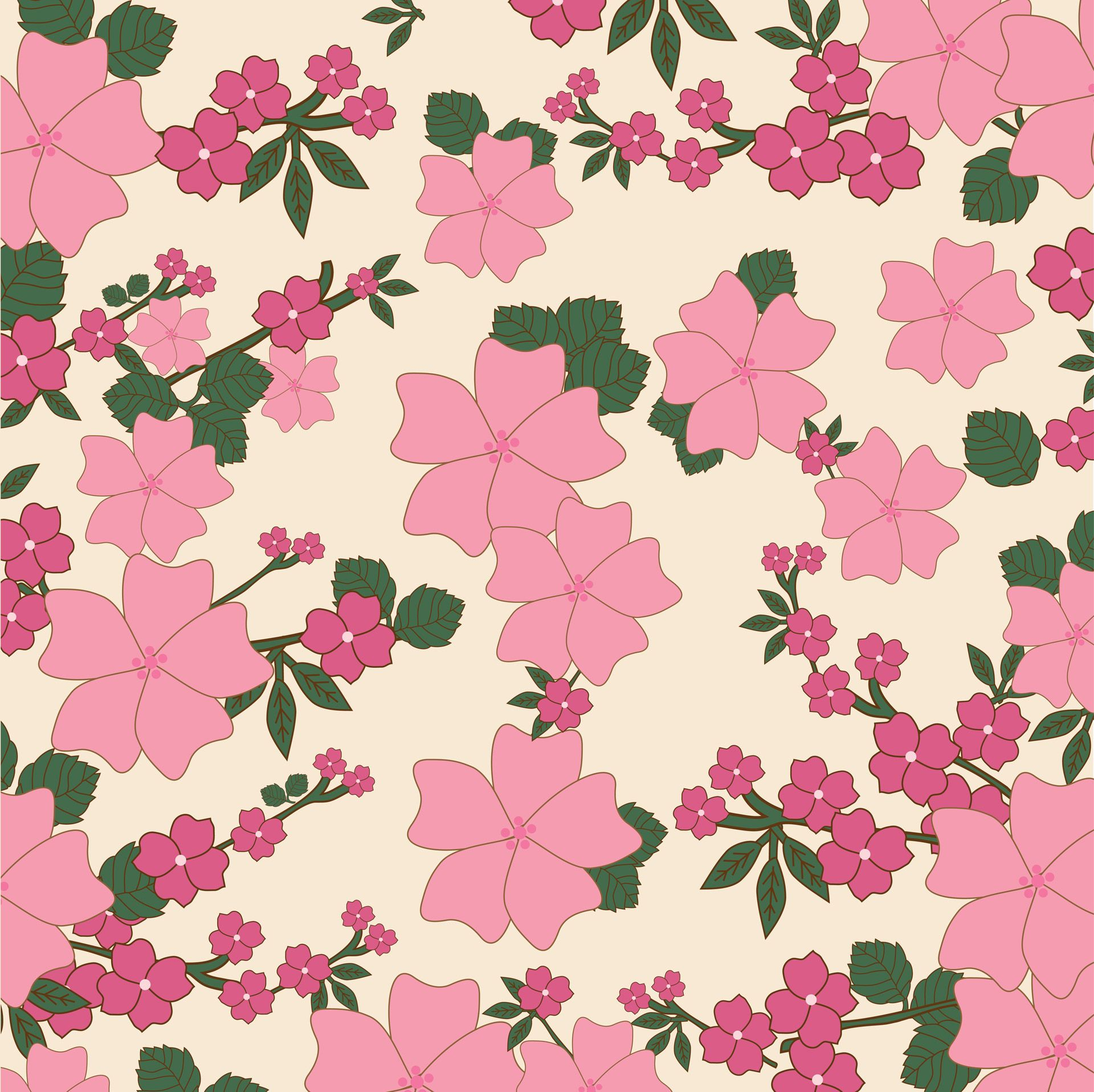 Vintage Floral Wallpaper Background Free Stock Photo - Public Domain ...