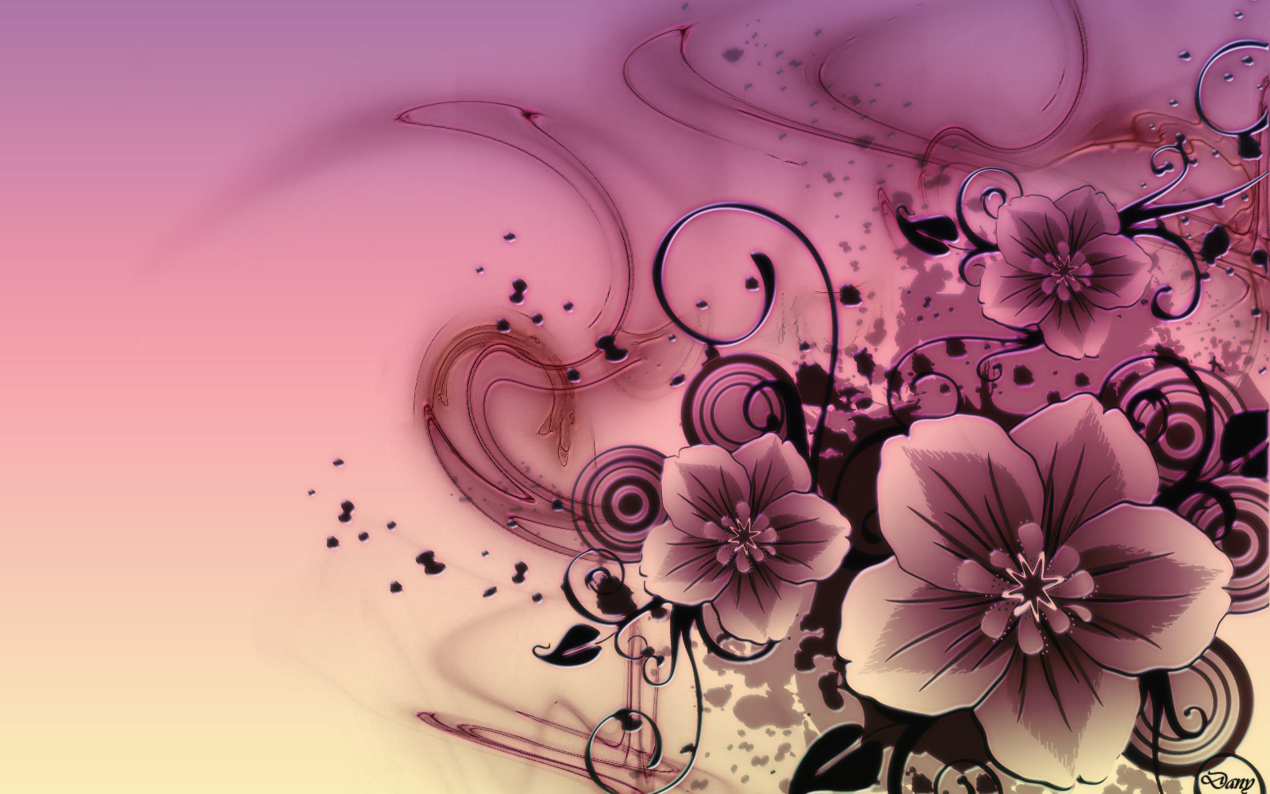 Abstract Flowers Hd Desktop Wallpaper Definition Fullscreen Wa ...